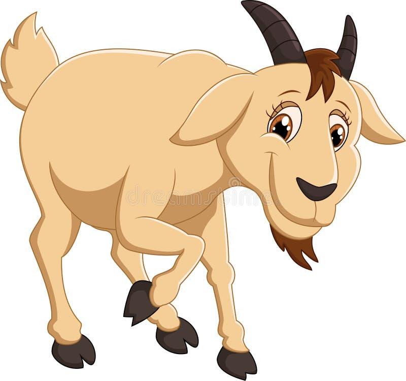 Caráter da cabra dos desenhos animados ilustração do vetor