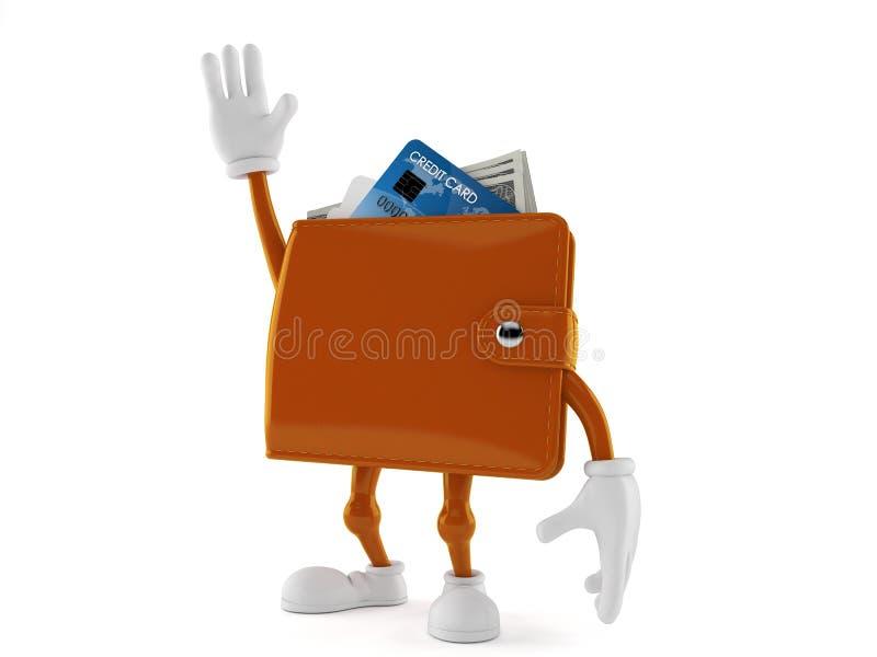 Caráter da carteira com mão acima ilustração do vetor