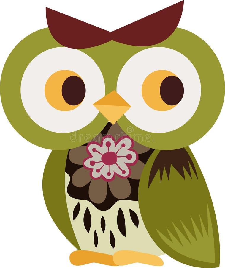 Caráter da coruja ilustração stock