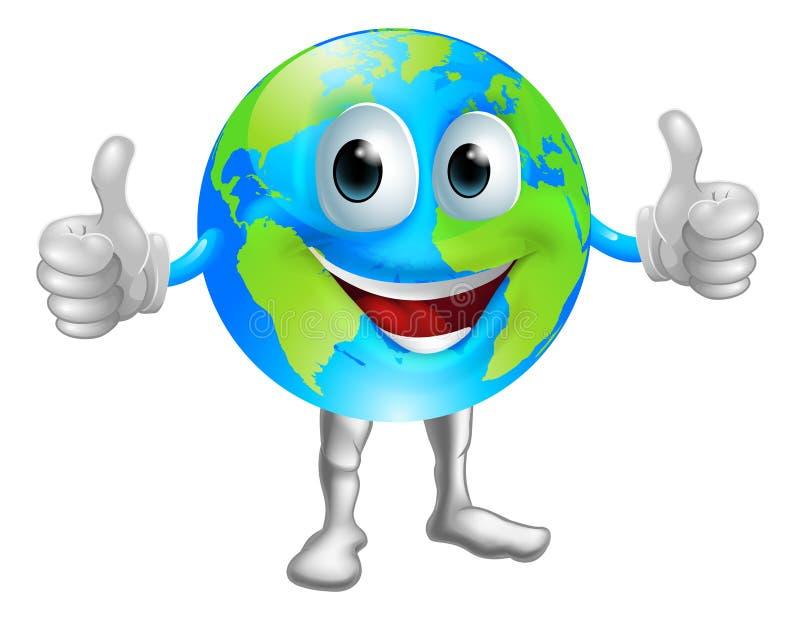 Caráter da mascote do globo ilustração royalty free