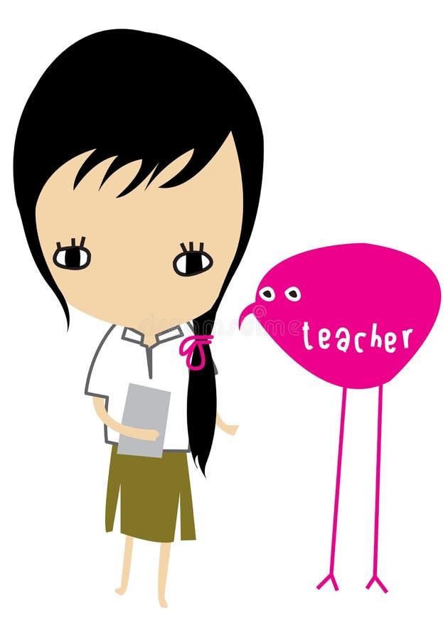 Caráter da menina ilustração stock