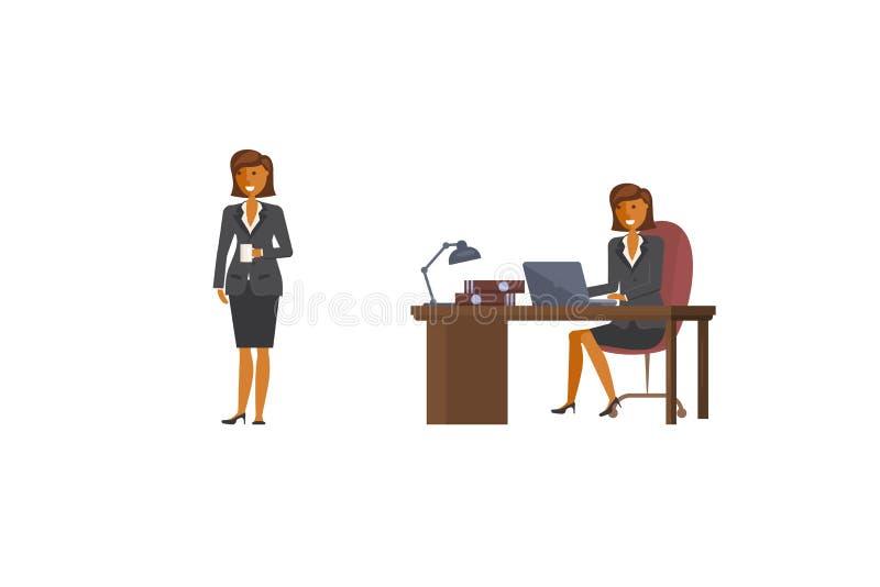 Caráter da mulher de negócio ilustração royalty free