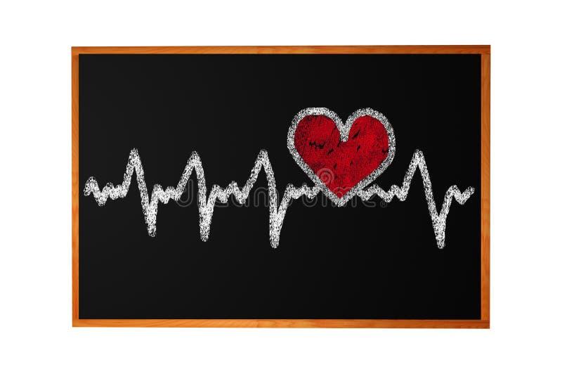Caráter da pulsação do coração e projeto, coração do amor ilustração royalty free