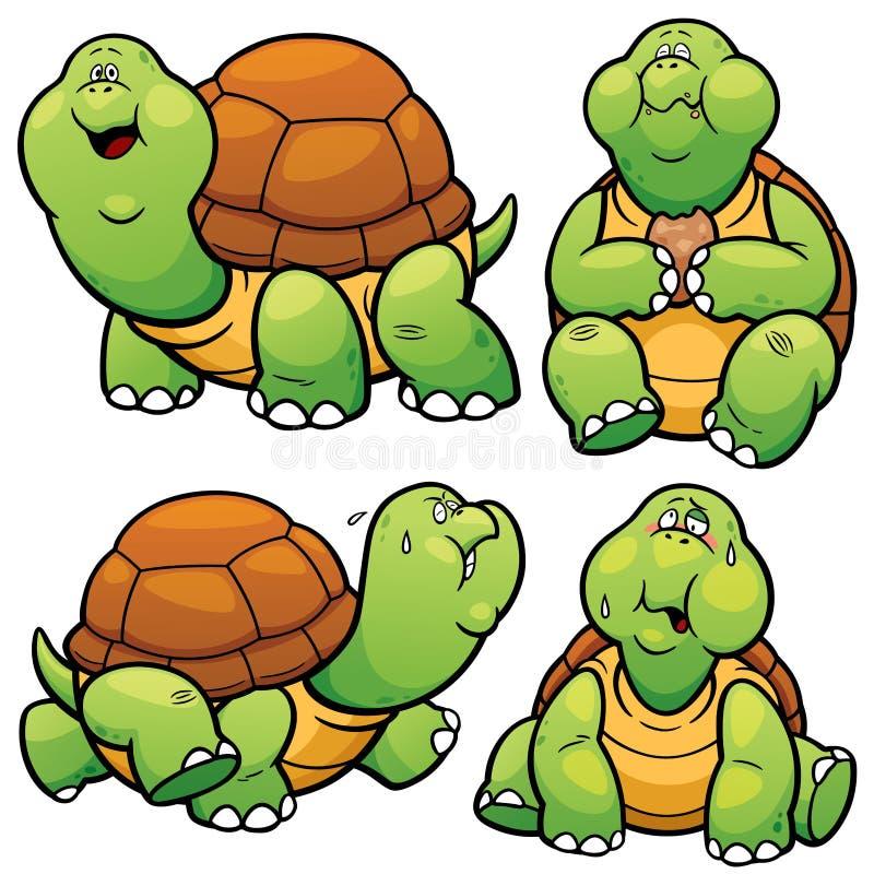 Caráter da tartaruga ilustração stock