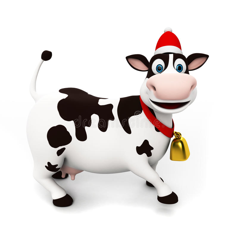 Caráter da vaca ilustração stock