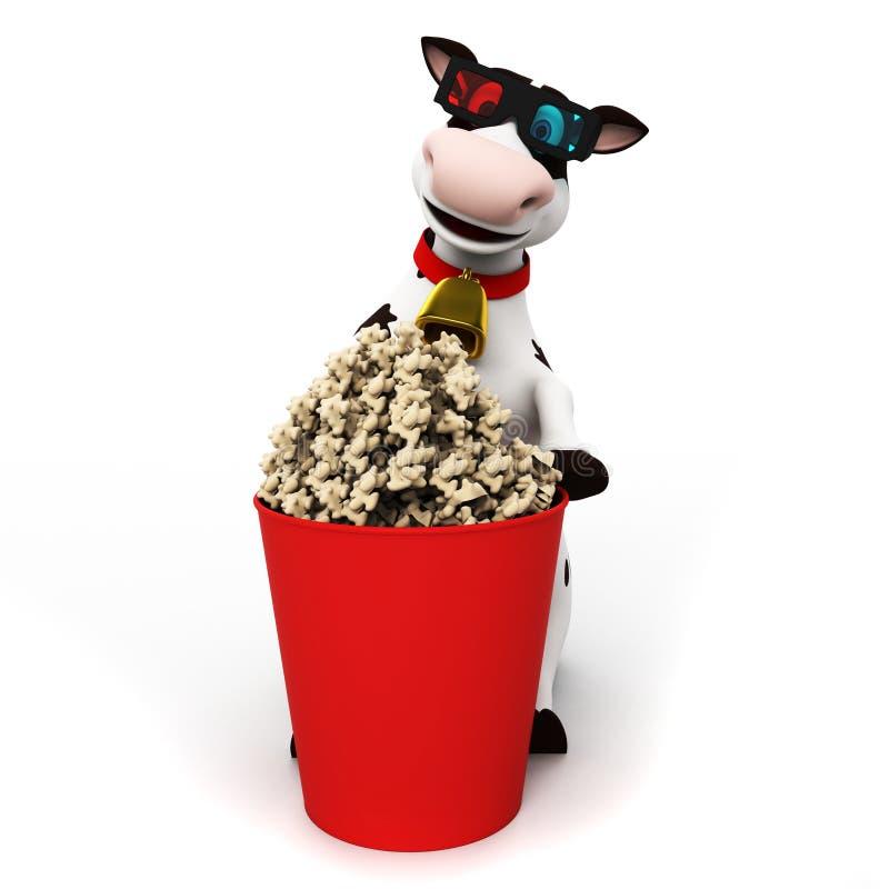 Caráter da vaca ilustração royalty free