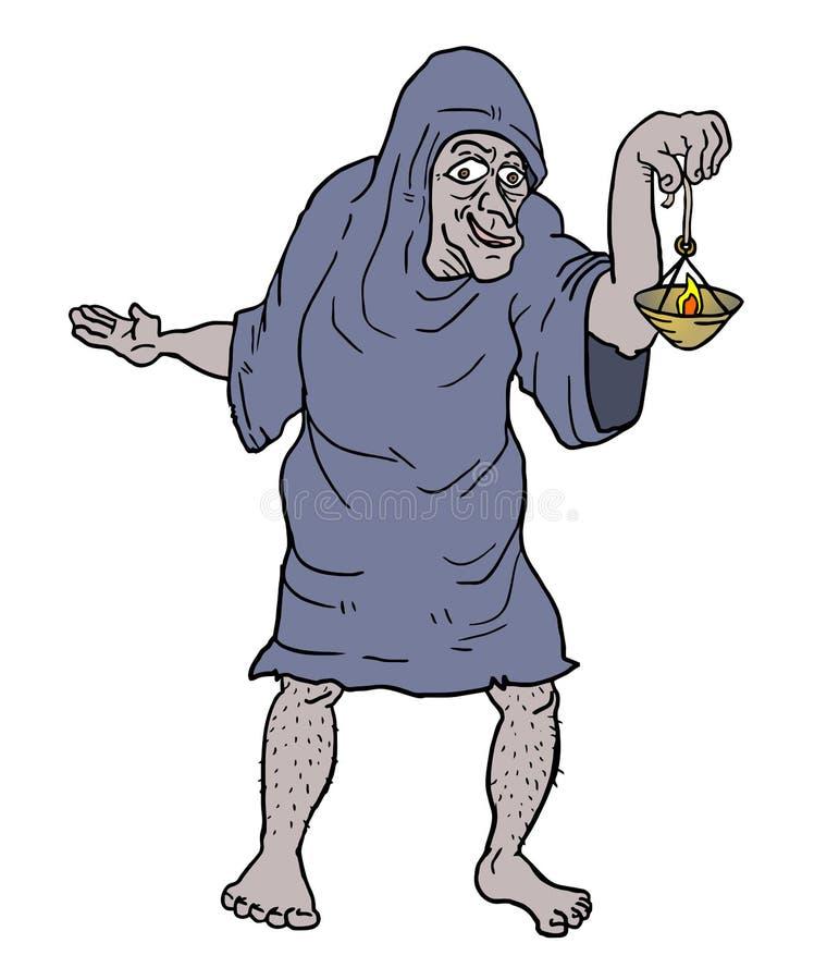 Caráter de Dia das Bruxas ilustração stock
