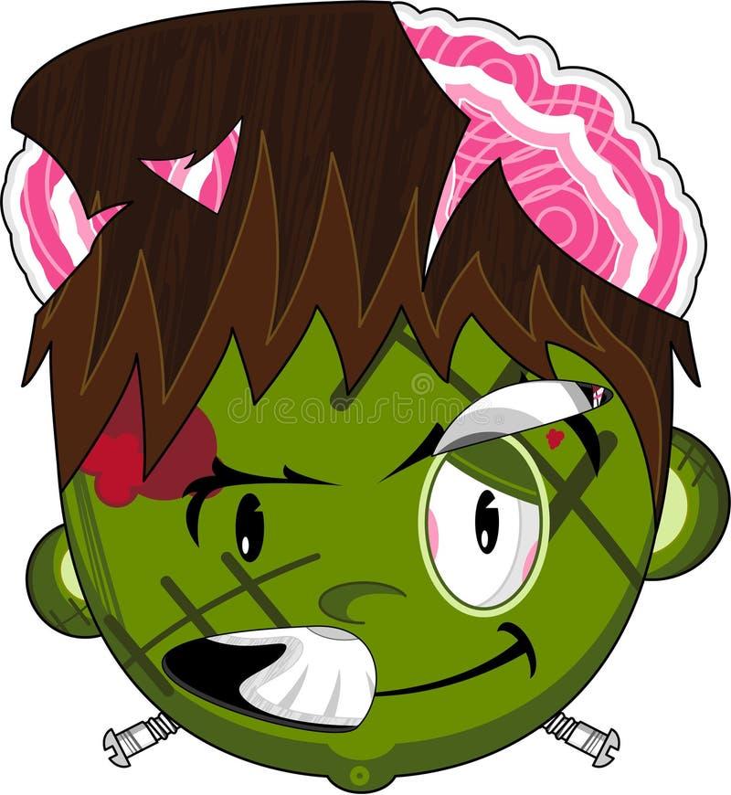 Caráter de Frankenstein do zombi dos desenhos animados ilustração stock