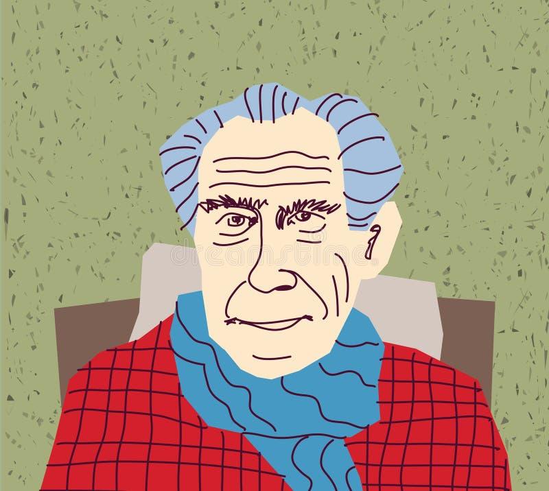 Caráter de primeira geração do retrato do Gaffer ilustração royalty free