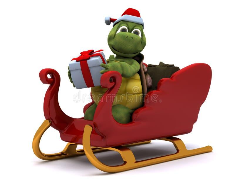 Caráter de Santa da tartaruga ilustração do vetor
