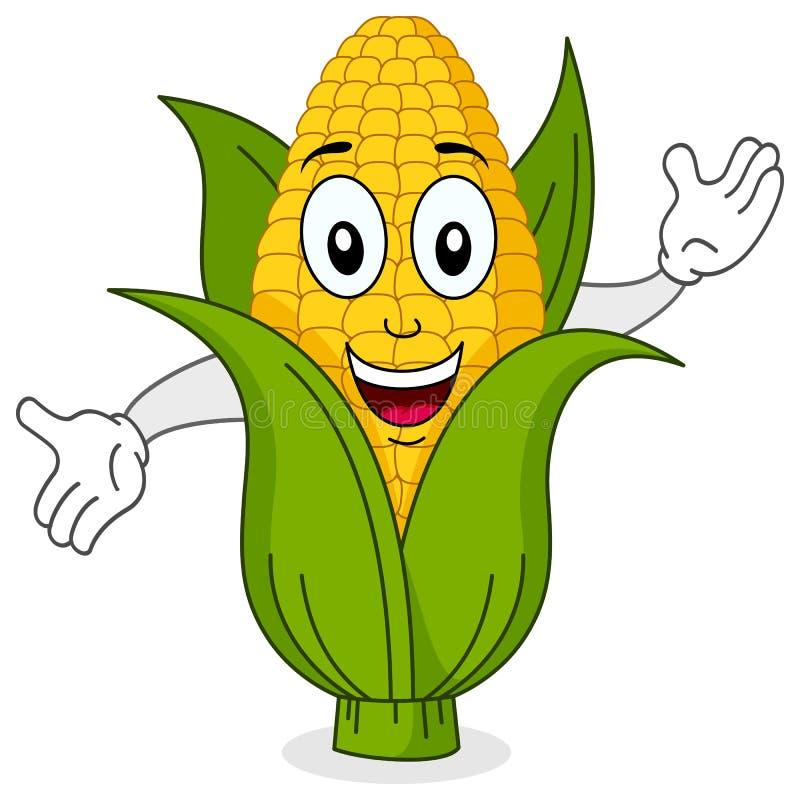 Caráter de sorriso engraçado da espiga de milho