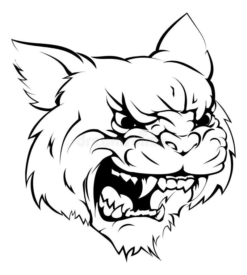 Caráter desorganizado da mascote ilustração stock