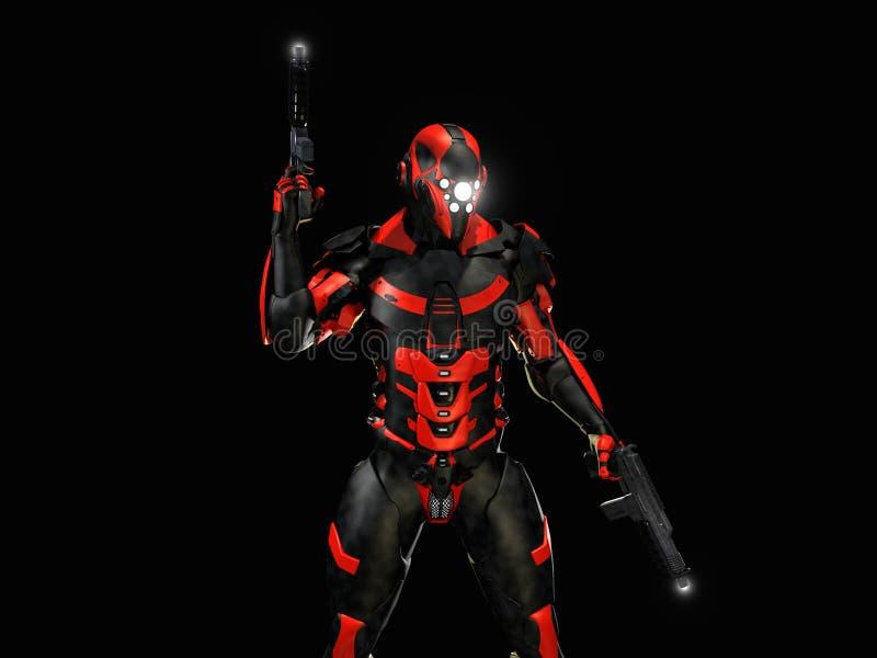 Caráter do androide ilustração do vetor