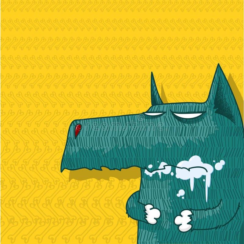 Caráter do cão dos desenhos animados ilustração do vetor