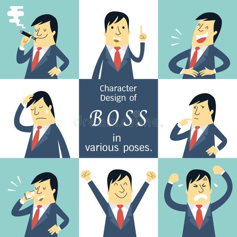 Caráter do chefe ilustração stock