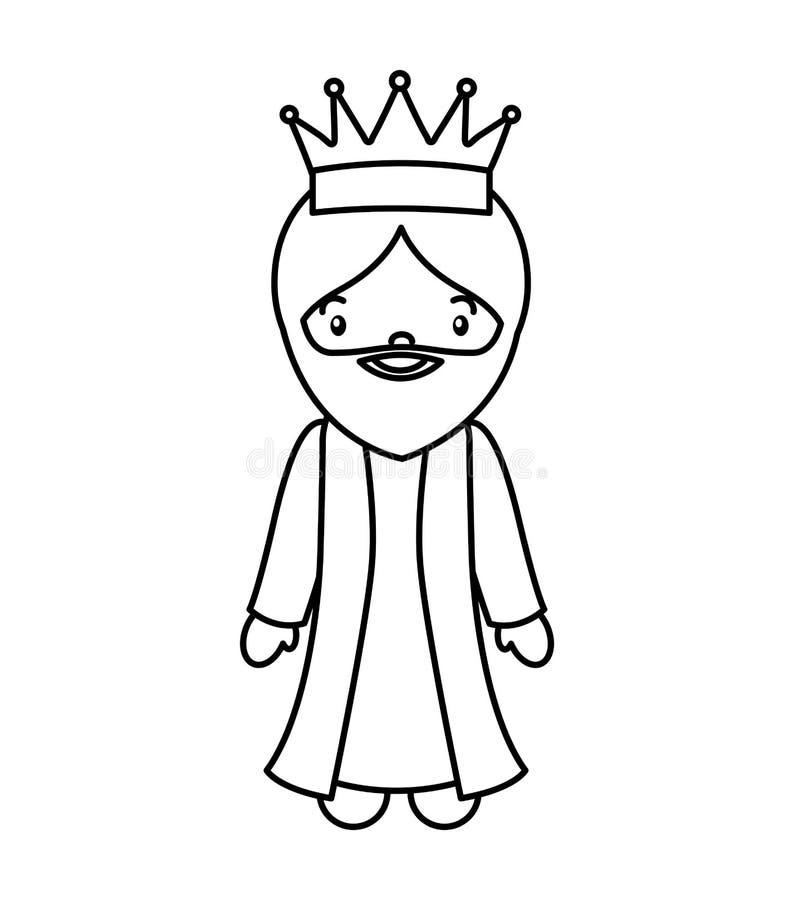 Caráter do comedoiro do esmagamento do homem sábio ilustração stock