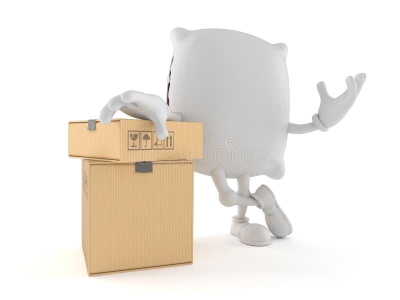 Caráter do descanso com caixas ilustração do vetor