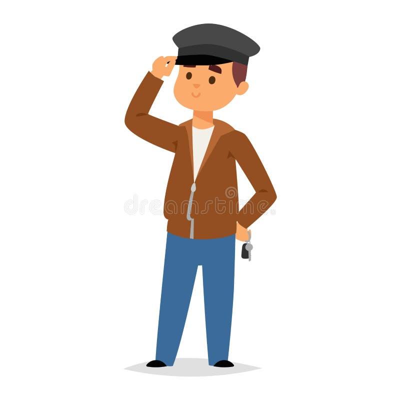 Caráter do motorista do motorista do Limo ilustração stock