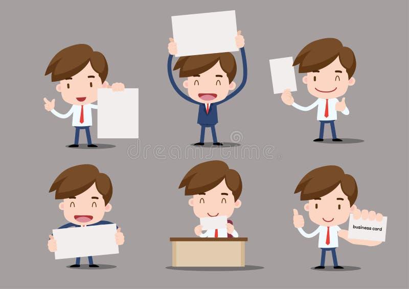 Caráter do negócio ilustração stock