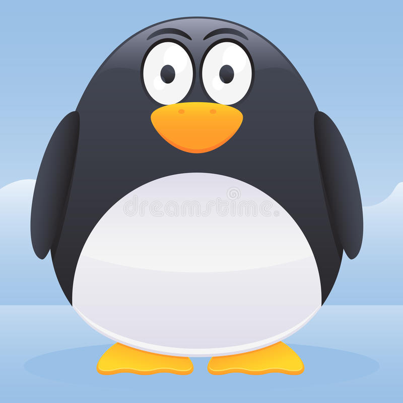Caráter do pinguim ilustração stock