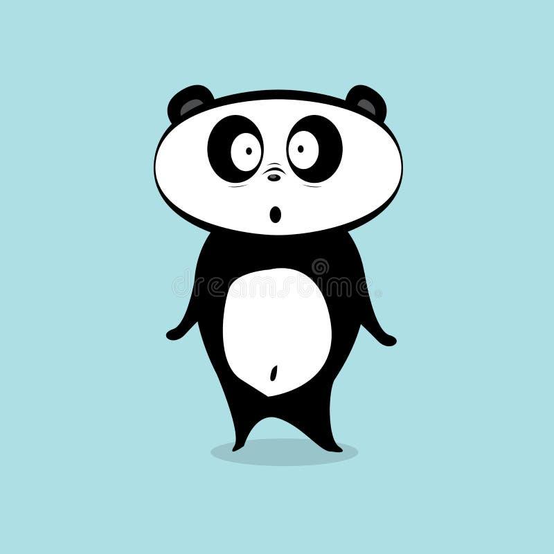 Caráter do urso de panda dos desenhos animados do vetor ilustração royalty free