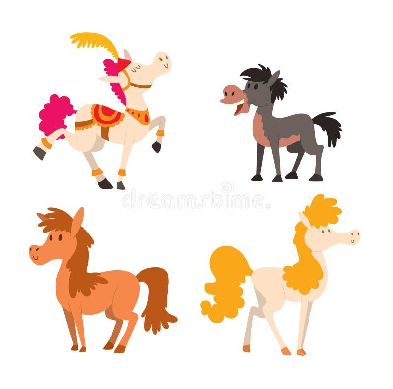 Caráter do vetor do cavalo dos desenhos animados ilustração stock
