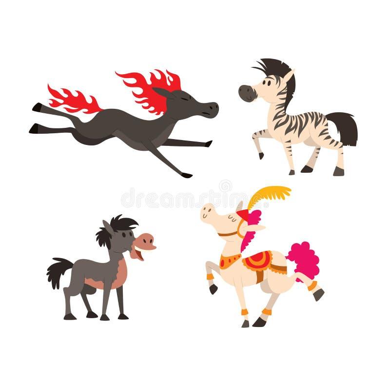 Caráter do vetor do cavalo dos desenhos animados ilustração do vetor