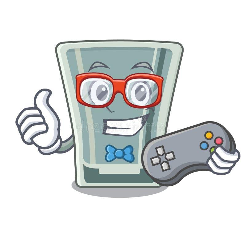 Caráter do vidro de tiro do Gamer no refrigerador ilustração do vetor