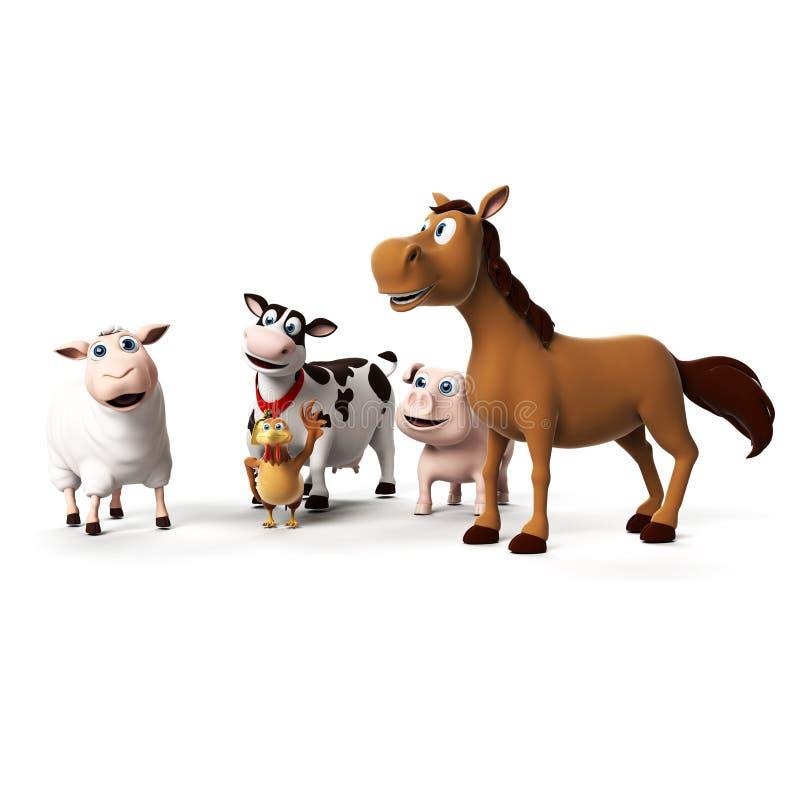 Caráter dos animais de exploração agrícola ilustração do vetor
