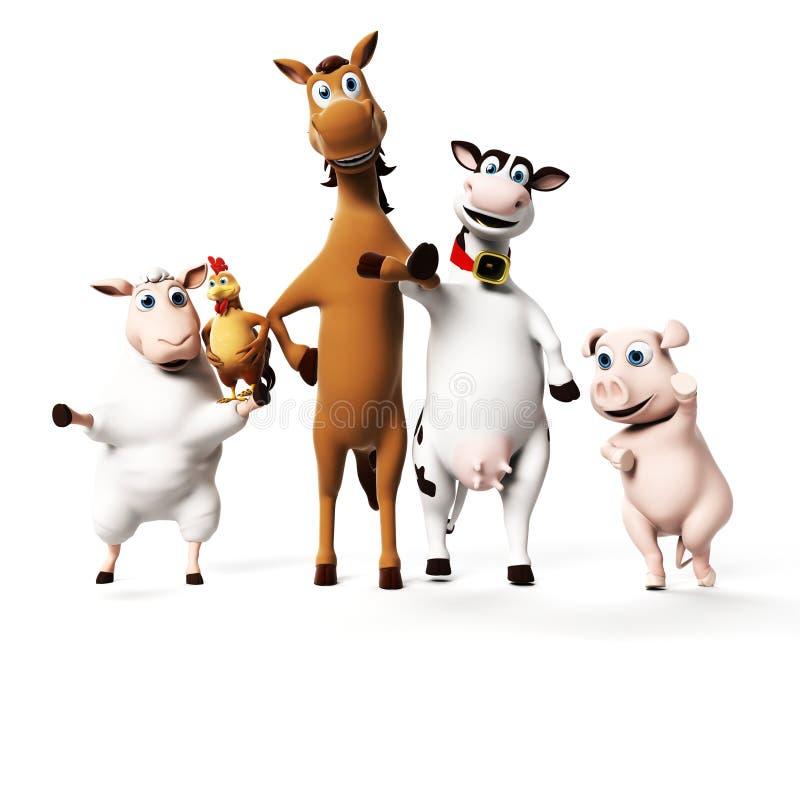 Caráter dos animais de exploração agrícola ilustração stock