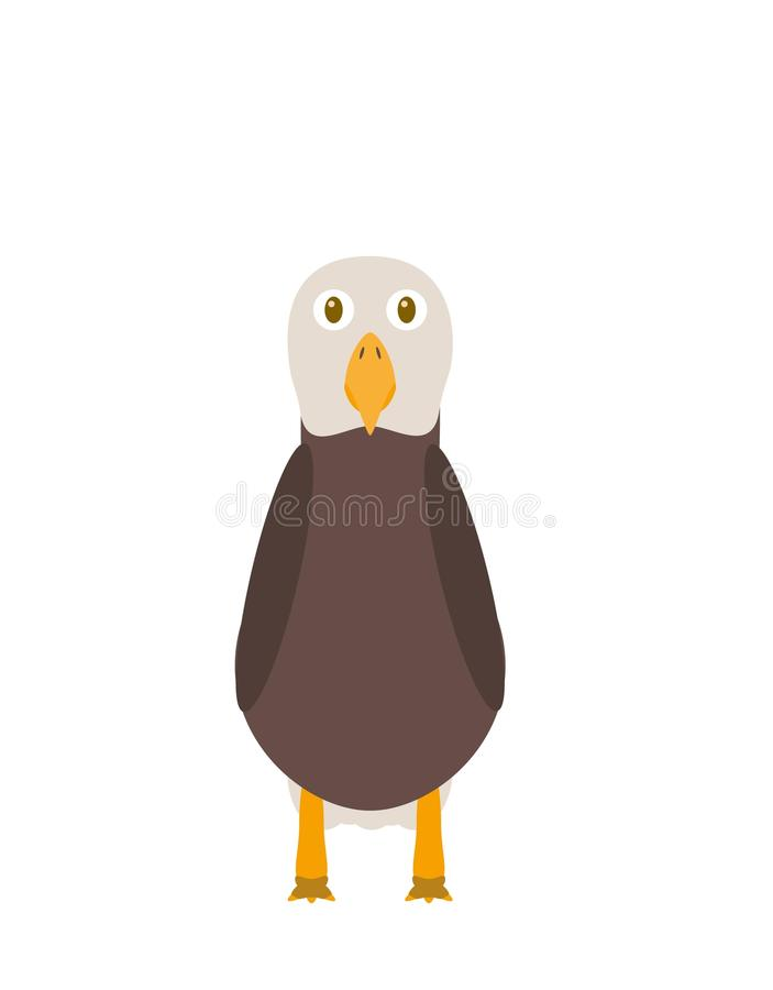 Caráter engraçado da águia ilustração do vetor