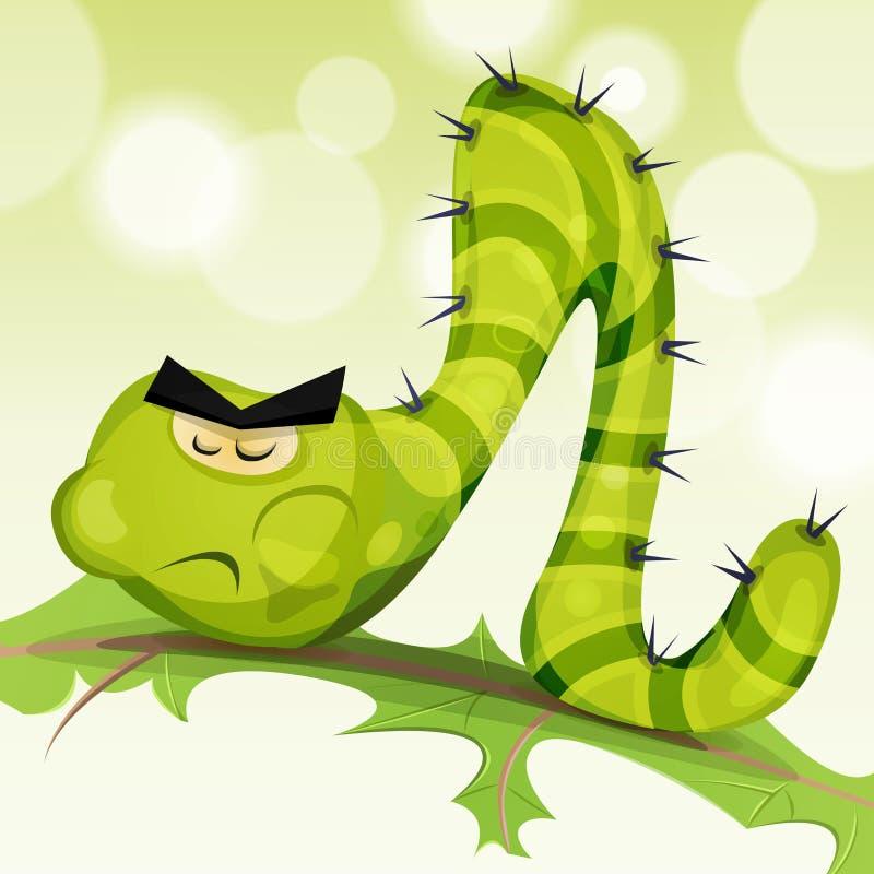 Caráter engraçado de Caterpillar ilustração stock