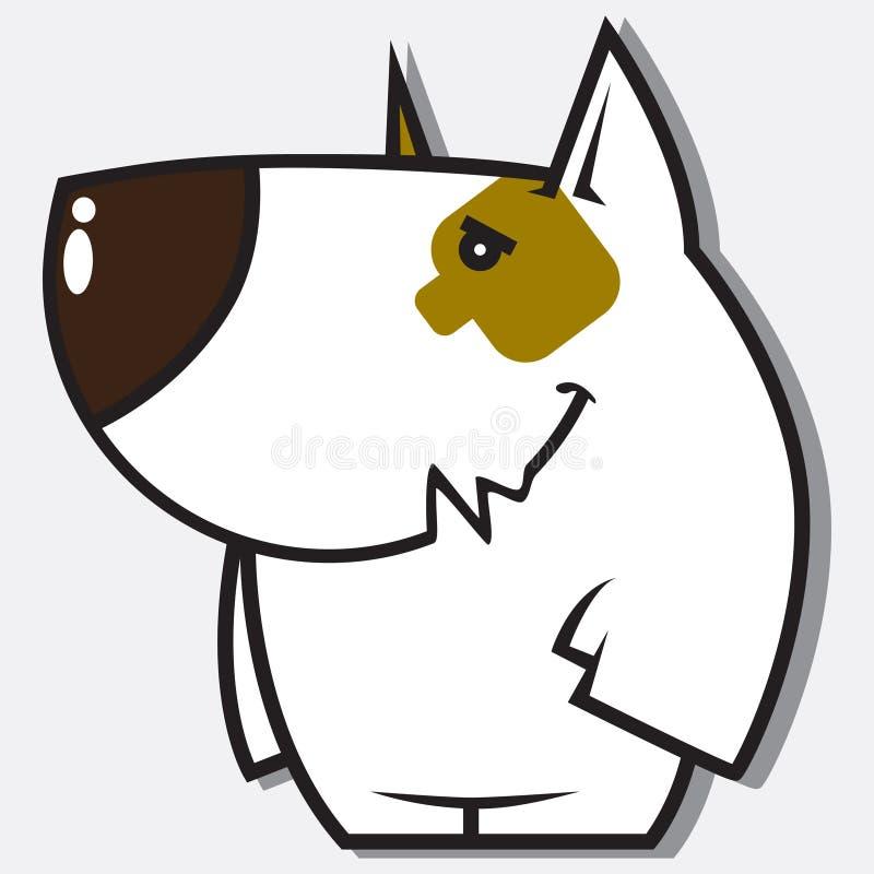 Caráter engraçado do doggy. ilustração royalty free