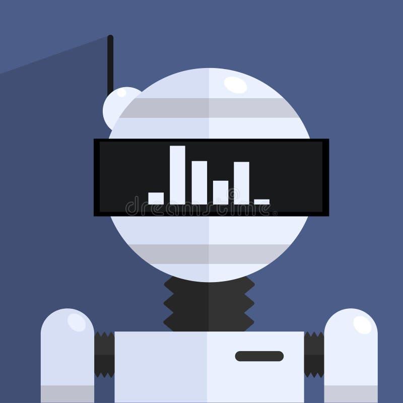 Caráter ergonômico do robô do projeto ilustração royalty free