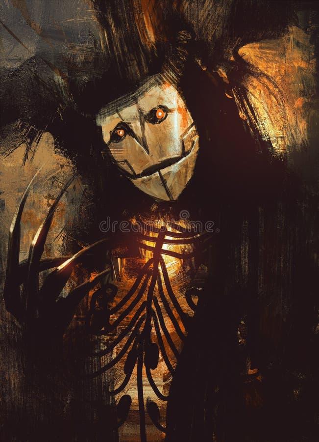 Caráter escuro da fantasia ilustração do vetor