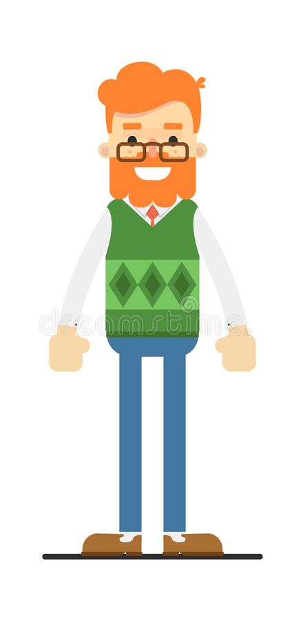 Caráter farpado redheaded feliz do moderno ilustração royalty free