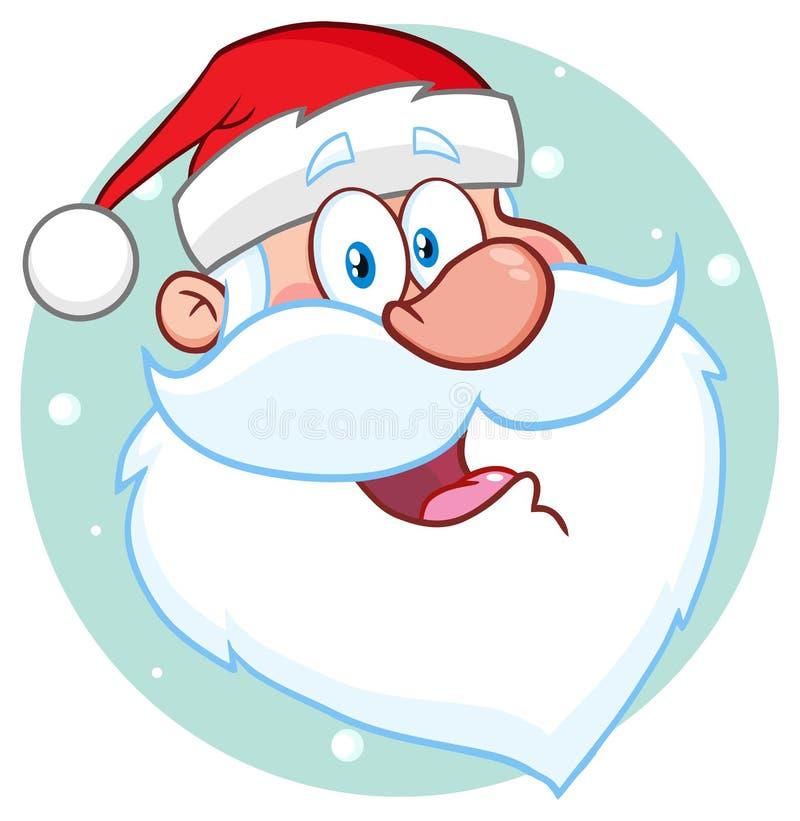 Caráter feliz de Santa Claus Face Classic Cartoon Mascot ilustração do vetor