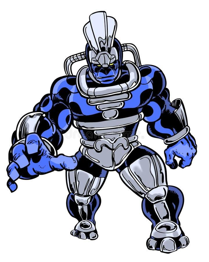 Caráter ilustrado banda desenhada do monstro do bandido da criatura ilustração royalty free