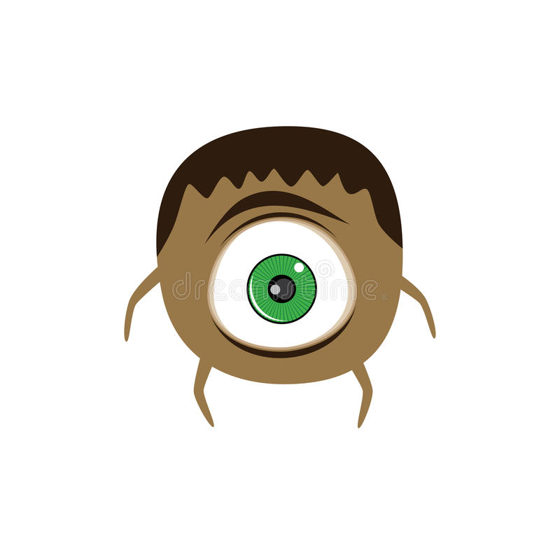 caráter imaginário dos desenhos animados assustadores adoráveis bonitos do monstro ilustração royalty free