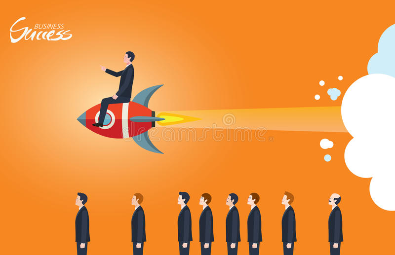 Caráter liso mínimo de ilustrações do conceito do sucesso comercial ilustração royalty free