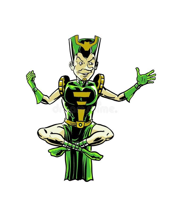 Caráter mágico do bandido da banda desenhada ilustração royalty free