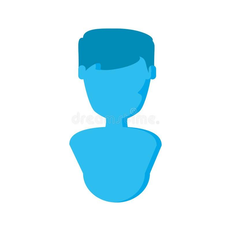 Caráter masculino do avatar da silhueta ilustração stock