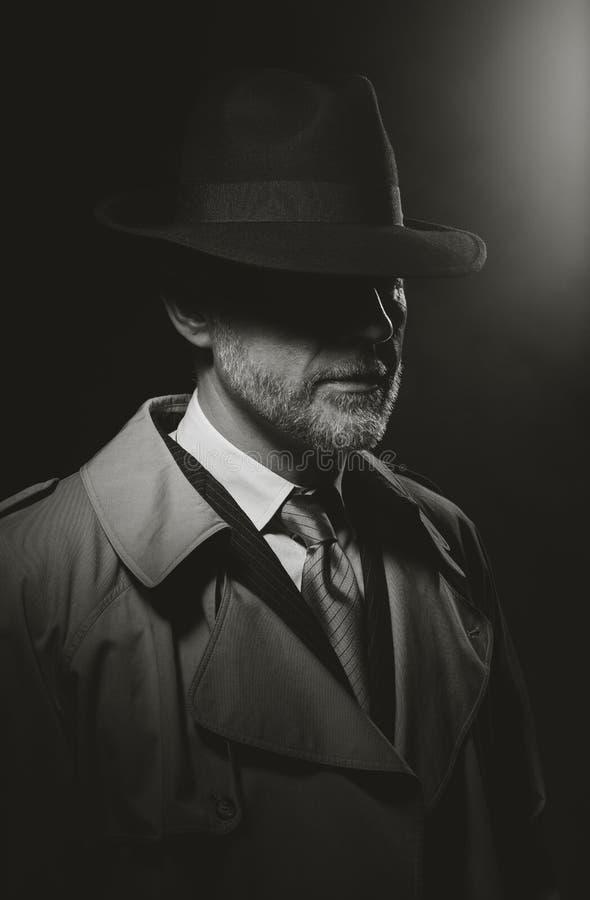 Caráter Noir do filme imagem de stock