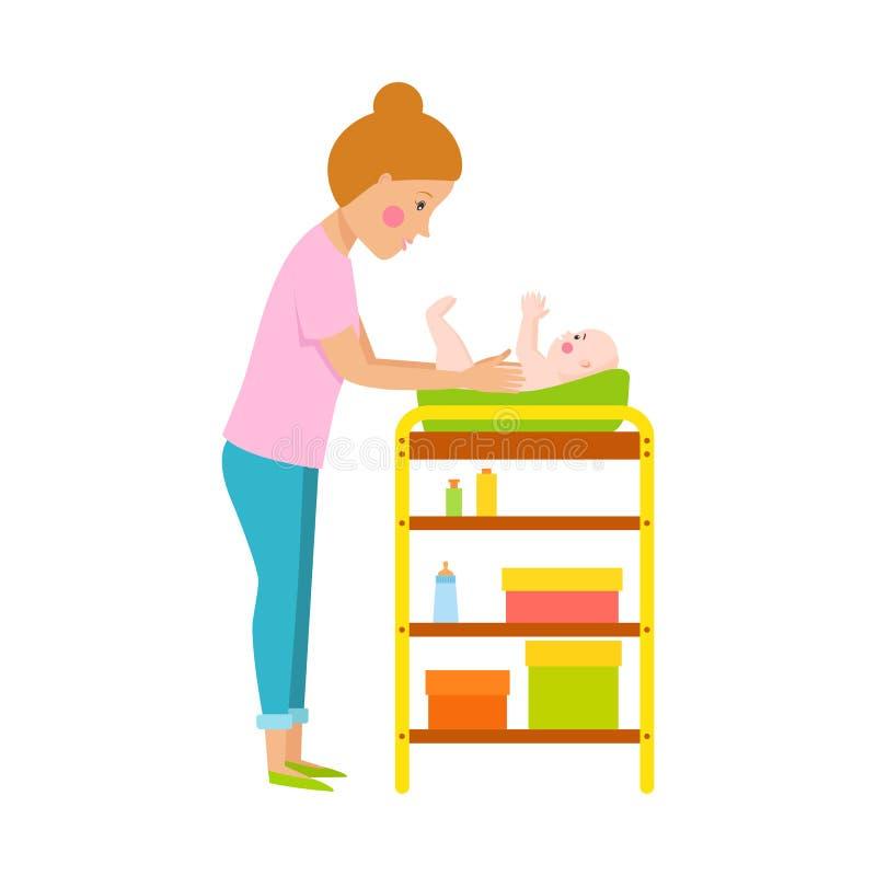Caráter novo do vetor da mãe ilustração stock