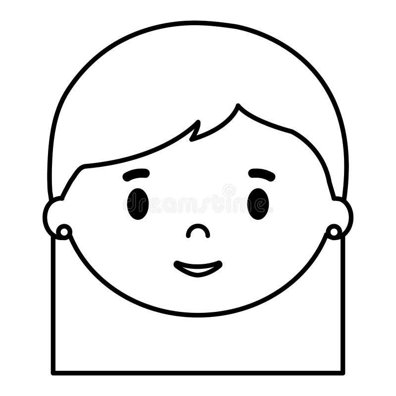 Caráter principal da filha da menina ilustração do vetor