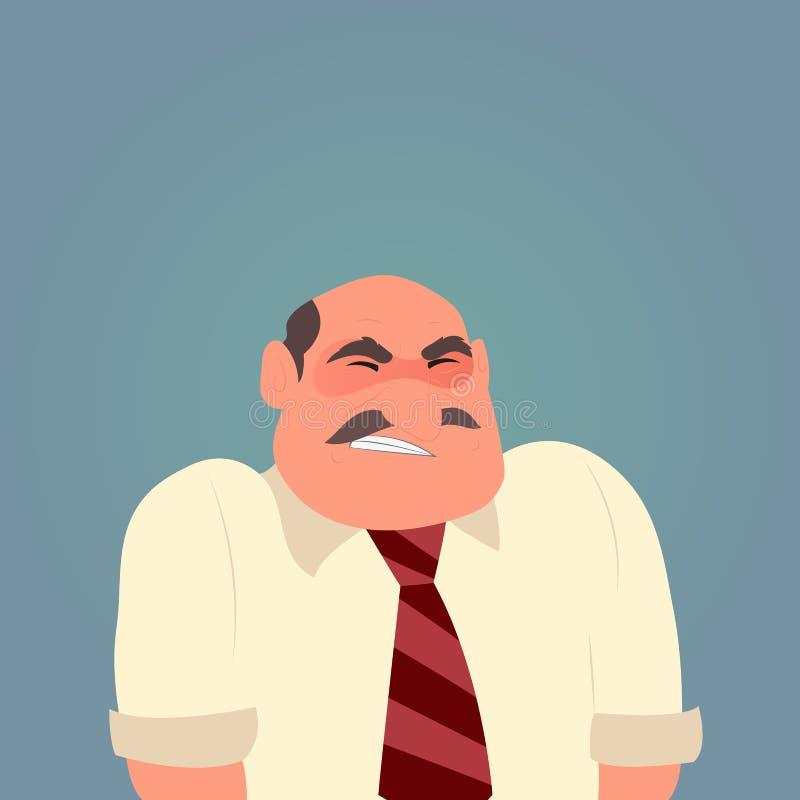 Caráter triste do homem dos desenhos animados ilustração royalty free