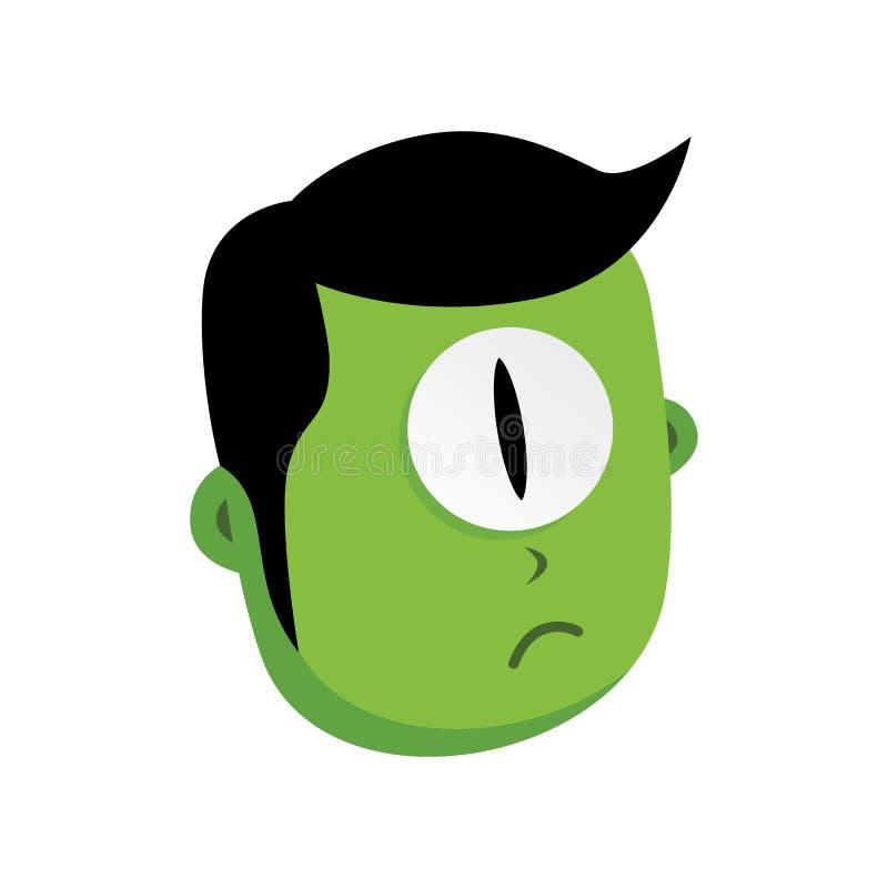 caráter verde do monstro do zombi ilustração royalty free