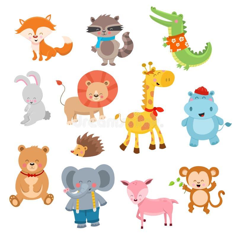 Caráteres animais bonitos ilustração do vetor