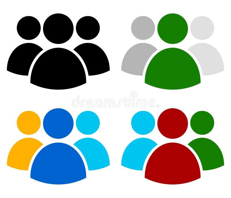 Caráteres, avatar, figura símbolo em cores diferentes ilustração do vetor