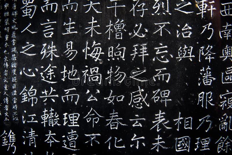 Caráteres chineses na parede imagem de stock royalty free